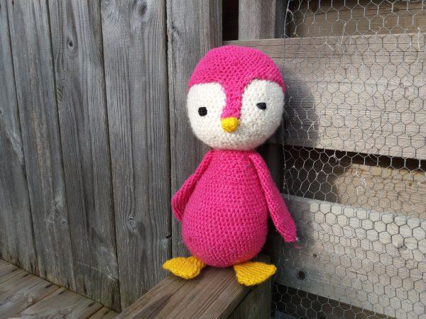 Pinguïn - roze - staand
